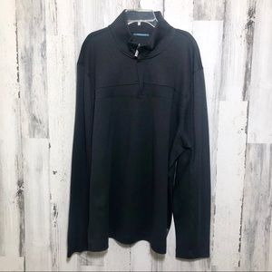Perry Ellis Black Long Sleeve Pullover Sweater NWT